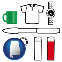 alabama typical advertising promotional items