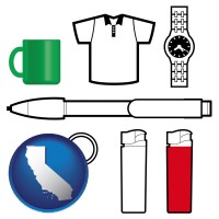 california typical advertising promotional items