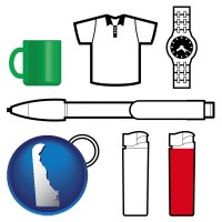 delaware typical advertising promotional items