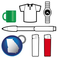 georgia typical advertising promotional items