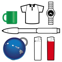 hawaii typical advertising promotional items