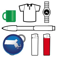 massachusetts typical advertising promotional items