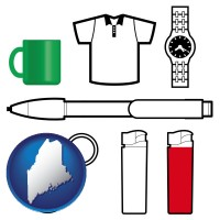 maine typical advertising promotional items