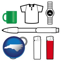 north-carolina typical advertising promotional items