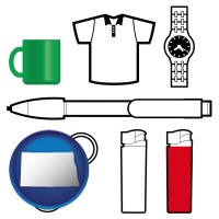 north-dakota typical advertising promotional items