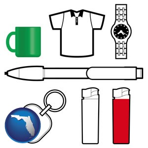 typical advertising promotional items - with Florida icon