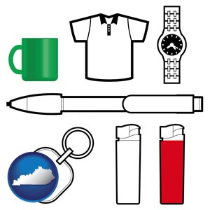 typical advertising promotional items - with Kentucky icon