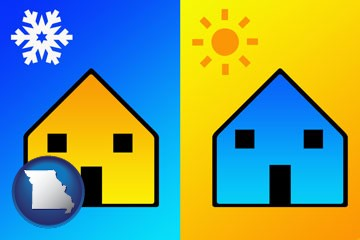 the concept of air conditioning - with Missouri icon