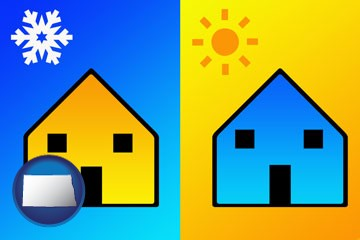 the concept of air conditioning - with North Dakota icon
