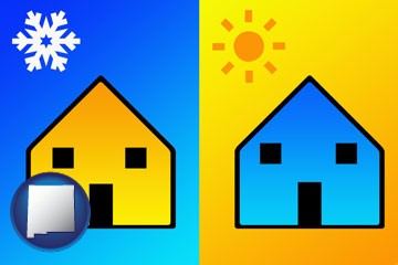 the concept of air conditioning - with New Mexico icon