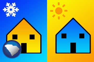 the concept of air conditioning - with South Carolina icon