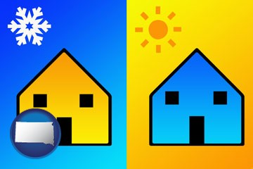 the concept of air conditioning - with South Dakota icon