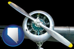 nevada map icon and an aircraft propeller