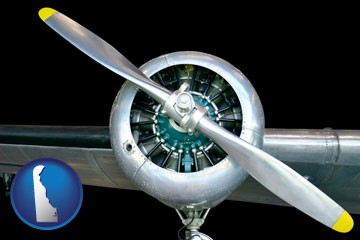 an aircraft propeller - with Delaware icon