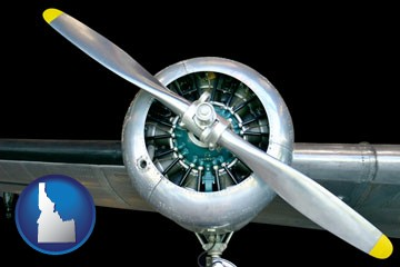 an aircraft propeller - with Idaho icon