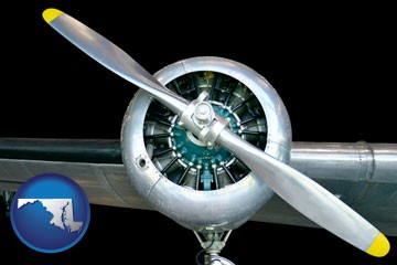 an aircraft propeller - with Maryland icon