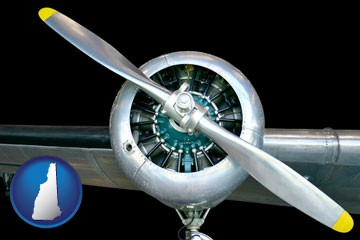 an aircraft propeller - with New Hampshire icon