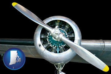 an aircraft propeller - with Rhode Island icon