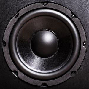 a bass audio speaker