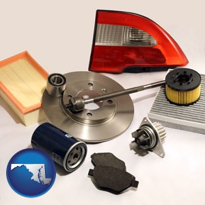 automotive parts - with Maryland icon