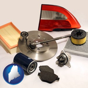 automotive parts - with Maine icon
