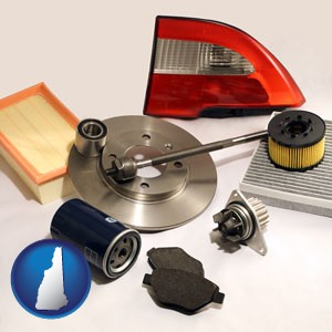 automotive parts - with New Hampshire icon