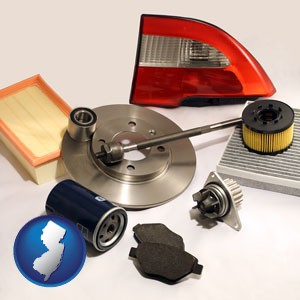 automotive parts - with New Jersey icon