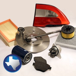 automotive parts - with Texas icon
