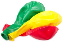 three colorful balloons, ready to inflate
