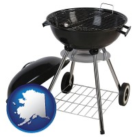alaska a kettle-style charcoal grill
