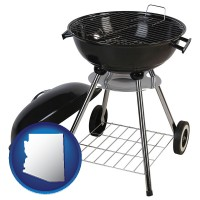 arizona a kettle-style charcoal grill