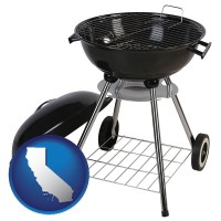 california a kettle-style charcoal grill