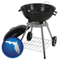 florida a kettle-style charcoal grill