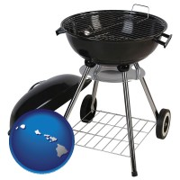 hawaii a kettle-style charcoal grill