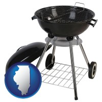 illinois a kettle-style charcoal grill