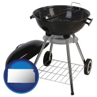 kansas a kettle-style charcoal grill
