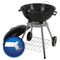 massachusetts a kettle-style charcoal grill