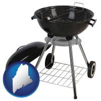 maine a kettle-style charcoal grill