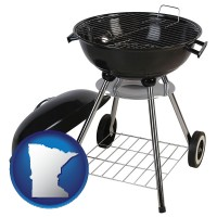 minnesota a kettle-style charcoal grill