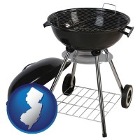 new-jersey a kettle-style charcoal grill
