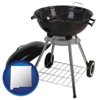 new-mexico a kettle-style charcoal grill