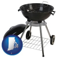 rhode-island a kettle-style charcoal grill