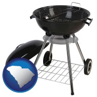 south-carolina a kettle-style charcoal grill