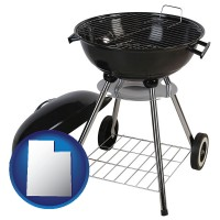 utah a kettle-style charcoal grill