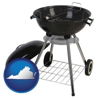 virginia a kettle-style charcoal grill