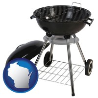 wisconsin a kettle-style charcoal grill