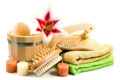 bath towels and bathing accessories