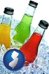 new-jersey beverage bottles on ice