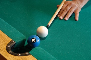 a billiards game