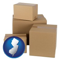 new-jersey a stack of cardboard boxes